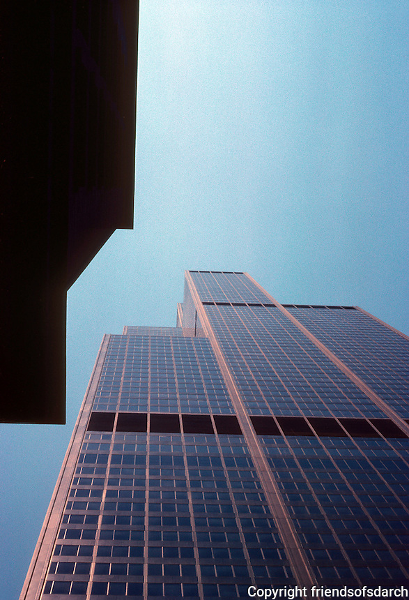 Chicago: Sears Tower--looking up. Photo '77.