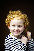 Isla Vereker, 2, from Uphall.<br /> <br /> 'I have lovely red curly hair.'