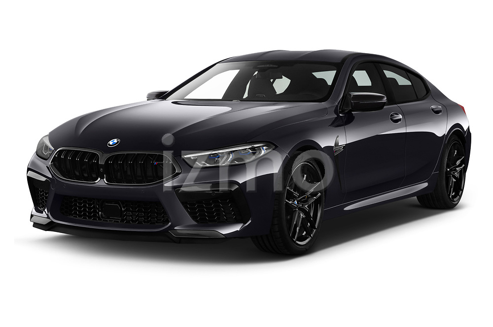 2020 BMW M8-Gran-Coupe Competition 4 Door Sedan Angular Front automotive stock photos of front three quarter view