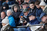 A fan with camera seen during the English National League match between Richmond and Blackheath  at Richmond Athletic Ground, Richmond, United Kingdom on 4 January 2020. Photo by Carlton Myrie.