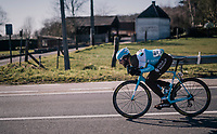 Gediminas Bagdonas (LTU/AG2R) tucked for speed<br /> <br /> 70th Kuurne-Brussel-Kuurne 2018<br /> Kuurne › Kuurne: 200km (BELGIUM)