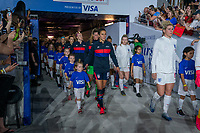 ORLANDO, FL - MARCH 05: Carli Lloyd #10 of the United States walks out during a game between England and USWNT at Exploria Stadium on March 05, 2020 in Orlando, Florida.