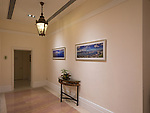 This photographer was both proud and delighted to see two of his panorama photographs in a corridor near the Ballroom.