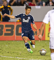 CARSON, CA - June 23, 2012: Vancouver Whitecaps defender Lee Young-Pyo (12) during the LA Galaxy vs Vancouver Whitecaps FC match at the Home Depot Center in Carson, California. Final score LA Galaxy 3, Vancouver Whitecaps FC 0.