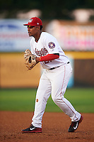 Tri-City ValleyCats first baseman Dexture McCall (27) during a game against the Brooklyn Cyclones on September 1, 2015 at Joseph L. Bruno Stadium in Troy, New York.  Tri-City defeated Brooklyn 5-4.  (Mike Janes/Four Seam Images)