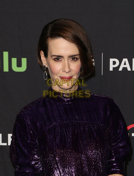 """HOLLYWOOD, CA - March 26: Sarah Paulson, At The Paley Center For Media's 34th Annual PaleyFest Los Angeles - """"American Horror Story: Roanoke""""  At The Dolby Theatre In California on March 26, 2017. <br /> CAP/MPI/FS<br /> ©FS/MPI/Capital Pictures"""