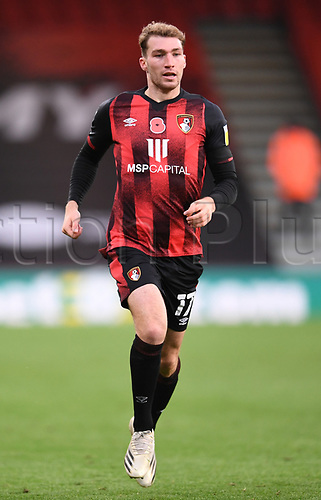 31st October 2020; Vitality Stadium, Bournemouth, Dorset, England; English Football League Championship Football, Bournemouth Athletic versus Derby County; Jack Stacey of Bournemouth