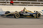 Schmidt Peterson Motorsports driver James Hinchcliffe (5) of Canada in action during the DXC Technology 600 race at Texas Motor Speedway in Fort Worth,Texas.