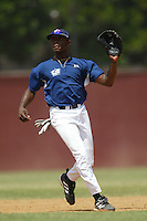 August 28 2004: Justin Upton practices with the USA Junior Olympic Team at Dedeaux Field in Los Angeles,CA.  Photo by Larry Goren/Four Seam Images