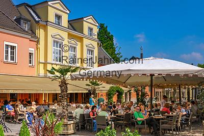Deutschland, Nordrhein-Westfalen, Xanten: Gelateria und Ristorante Pizzeria 'Vecchio Teatro' am Markt | Germany, Northrhine-Westphalia, Xanten: Gelateria and Ristorante Pizzeria 'Vecchio Teatro' at market square