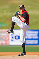 Starting pitcher Kevin Moran #31 of the Kannapolis Intimidators in action against the Hickory Crawdads at Fieldcrest Cannon Stadium on April 17, 2011 in Kannapolis, North Carolina.   Photo by Brian Westerholt / Four Seam Images