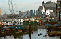 London Docklands:  View from West India Quay.  Photo '90.