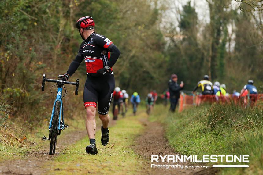EVENT:<br /> Round 5 of the 2019 Munster CX League<br /> Drombane Cross<br /> Sunday 1st December 2019,<br /> Drombane, Co Tipperary<br /> <br /> CAPTION:<br /> Adrian Kirby of Greenmount CA in action during the B Race<br /> <br /> Photo By: Michael P Ryan