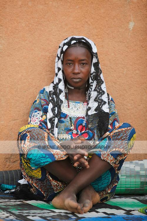 Fulani woman in Djibo in northern Burkina Faso, West Africa.