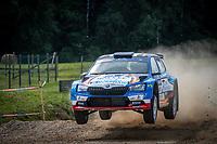 3rd July 2021, Liepaja, Latvia;  06 LLARENA Efren (ESP), FERNANDEZ Sara (ESP), RALLYE TEAM SPAIN, ¦koda Fabia Evo during the 2021 FIA ERC Rally Liepaja, 2nd round of the 2021 FIA European Rally Championship