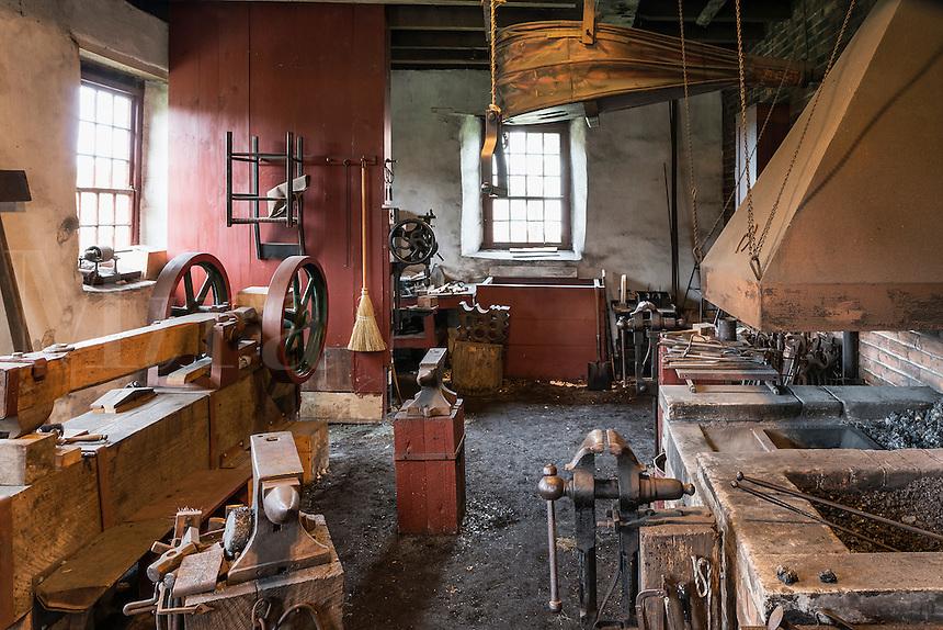 Blacksmith shop, Hancock Shaker Village, Hancock, Massachusetts, USA