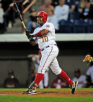 18 March 2009: Washington Nationals' infielder Ronnie Belliard in action during a Spring Training game against the Florida Marlins at Space Coast Stadium in Viera, Florida. The Marlins defeated the Nationals 7-5 in the Grapefruit League matchup. Mandatory Photo Credit: Ed Wolfstein Photo