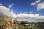 Israel, Jerusalem Mountains, looking towards Jerusalem from Mount Eitan