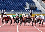 Josh Cassidy and Alex Dupont, Toronto 2015 - Para Athletics // Para-athlétisme.<br /> Josh Cassidy and Alex Dupont compete in the Men's 800m T54 Final // Josh Cassidy et Alex Dupont participent à la finale du 800 m T54 masculin. 13/08/2015.