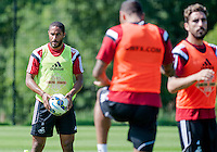 Thursday 24 July 2014<br /> Pictured: Ashley Williams<br /> Re: Swansea City Training at Fairwood