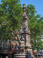 Jan-van Werth Denkmal Alter Markt, Köln, Nordrhein-Westfalen, Deutschland, Europa<br /> MonumentJan-van Werth, Alter Markt, Cologne, North Rhine-Westphalian, Germany, Europe