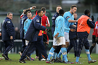 Tempers flare as the teams leave the pitch at half-time - AFC Hornchurch vs Billericay Town - Blue Square Conference South Football at The Stadium, Upminster Bridge, Essex - 29/12/12 - MANDATORY CREDIT: Gavin Ellis/TGSPHOTO - Self billing applies where appropriate - 0845 094 6026 - contact@tgsphoto.co.uk - NO UNPAID USE