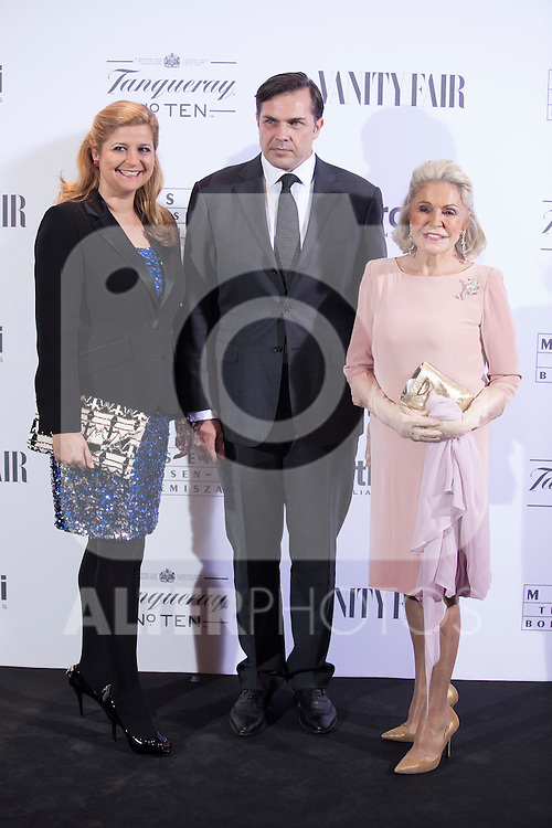 Beatriz de Orleans and his son poses during the 'HUBERT DE GIVENCHY' exhibition inauguration at THYSSEN-BORNEMISZA museum in Madrid, Spain. October 20, 2014. (ALTERPHOTOS/Victor Blanco)