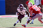 Texas A&M Aggies wide receiver Ricky Seals-Jones (9) in action during the game between the Texas A&M Aggies and the SMU Mustangs at the Gerald J. Ford Stadium in Fort Worth, Texas. A&M leads SMU 38 to 3 at halftime.