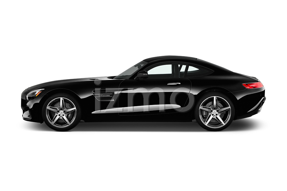 Car Driver side profile view of a 2016 Mercedes Benz AMG-GT AMG-GT-S 3 Door Coupe Side View