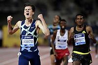 Jakob Ingebrigtsen of Norway reacts after winning the 5000m Men during the Wanda  Diamond League Golden Gala meeting at the Luigi Ridolfi stadium in Florence, Italy, June 10th, 2021. Photo Andrea Staccioli / Insidefoto