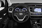 Car pictures of steering wheel view of a 2018 Toyota Highlander SE 5 Door SUV Steering Wheel