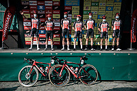 Team Lotto Soudal pre race team presentation<br /> <br /> Antwerp Port Epic 2020 <br /> One Day Race: Antwerp to Antwerp 183km; of which 28km are cobbles and 35km is gravel/off-road<br /> Bingoal Cycling Cup 2020