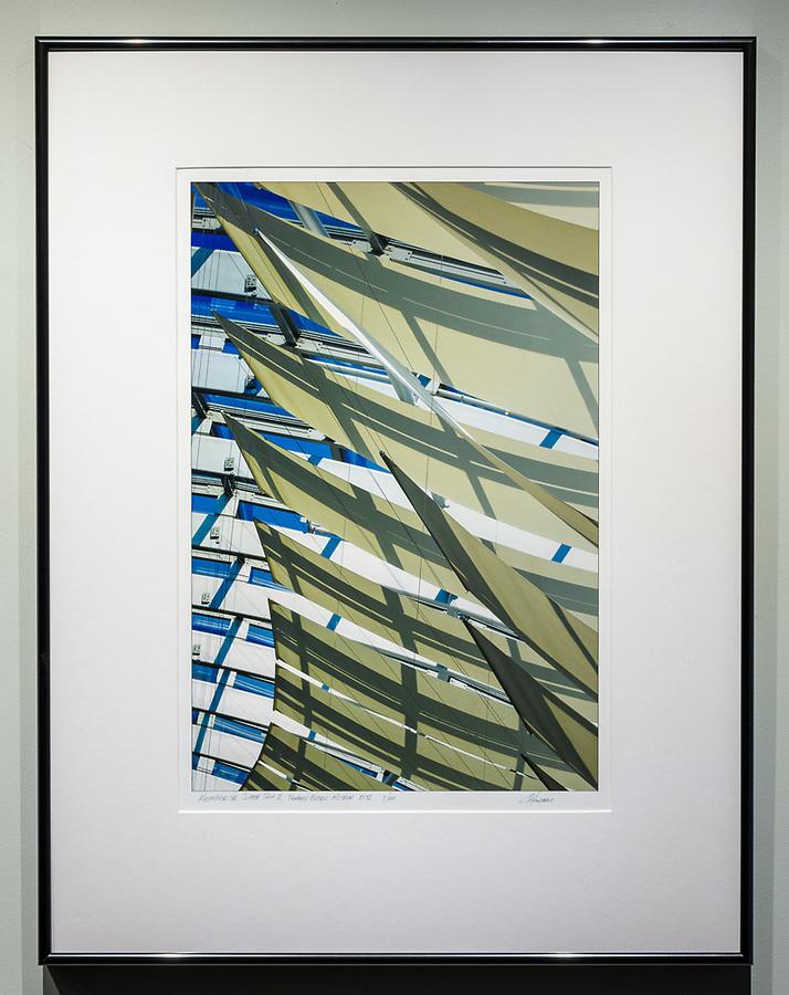 """Framed Size 26""""h x 20""""w, $450<br /> Contrast Gray Nielsen 15 metal frame"""