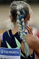Anna Ryzhykova of Ukraine prepares to compete in the 200m Women during the Wanda  Diamond League Golden Gala meeting at the Luigi Ridolfi stadium in Florence, Italy, June 10th, 2021. Photo Andrea Staccioli / Insidefoto
