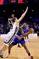 Kerwin Roach of the Wellington Saints during the round one NBL match between the Wellington Saints and the Canterbury Rams at TSB Bank Arena, Wellington, New Zealand on Friday 30 April 2021.<br /> Photo by Masanori Udagawa. <br /> www.photowellington.photoshelter.com