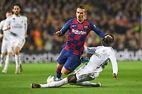 Antoine Griezmann, Benjamin Mendy<br /> <br /> <br /> 18/12/2019 <br /> Barcelona - Real Madrid<br /> Calcio La Liga 2019/2020 <br /> Photo Paco Largo Panoramic/insidefoto <br /> ITALY ONLY