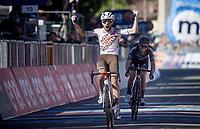 Andrea Vendrame (ITA/AG2R Citroën) beats Chris Hamilton (AUS/DSM) to the finish line<br /> <br /> 104th Giro d'Italia 2021 (2.UWT)<br /> Stage 12 from Siena to Bagno di Romagna (212km)<br /> <br /> ©kramon