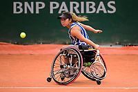 9th October 2020, Roland Garros, Paris, France; French Open tennis, Roland Garr2020;  Ladies singles wheelchair final, Yui Kamiji jpn