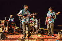 Patrice and Marie Diandy Orchestra Play for Dinner Guests, Biannual Arts Festival, Goree Island, Senegal