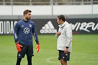 Torwart/Goalie Kevin Trapp (Deutschland Germany), Torwarttrainer Andreas Kronenberg (Deutschland Germany) - Stuttgart 31.08.2021: Training der Deutschen Nationalmannschaft, Gazi Stadion Stuttgart