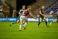 29th April 2021; DW Stadium, Wigan, Lancashire, England; BetFred Super League Rugby, Wigan Warriors versus Hull FC;   Sam Powell of Wigan Warriors passes right