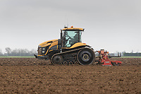 1-3-2021 Power harrowing land before drilling Spring Barley in the Lincolnshire Fens <br />  ©Tim Scrivener Photographer 07850 303986<br />      ....Covering Agriculture In The UK....