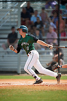 Dartmouth Big Green shortstop Nate Ostmo (19) at bat during a game against the Southern Maine Huskies on March 23, 2017 at Lake Myrtle Park in Auburndale, Florida.  Dartmouth defeated Southern Maine 9-1.  (Mike Janes/Four Seam Images)