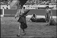 3 Octobre 1976. Vue de la corrida de Carmona dans les arènes de Toulouse