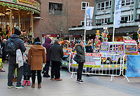 On the first weekend of new coronavirus restrictions - the City of Coventry is in the Tier 3 - 'very high risk' with no pubs or restaurants allowed to trade, except for takeaway, but all shops are open and shoppers out in force. Coventry, Warwickshire on Saturday December 5th 2020<br /> <br /> Photo by Keith Mayhew