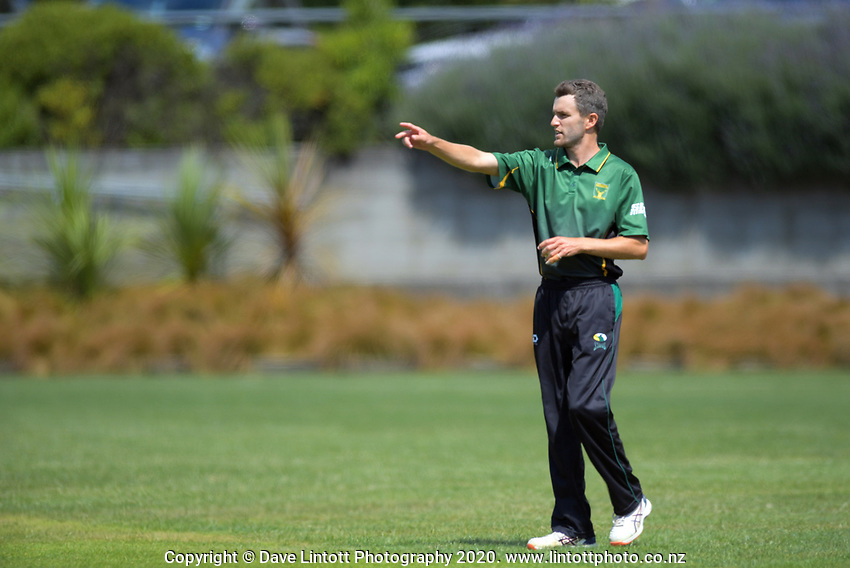 Brad Schmulian prepares to bowl during the provincial cricket match between the Wellington A and Central Districts A at Karori Park in Wellington, New Zealand on Monday, 6 January 2020. Photo: Dave Lintott / lintottphoto.co.nz