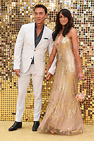 """Bruno Tonioli and Jackie St.Claire<br /> arrives for the World Premiere of """"Absolutely Fabulous: The Movie"""" at the Odeon Leicester Square, London.<br /> <br /> <br /> ©Ash Knotek  D3137  29/06/2016"""