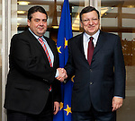 140220: Sigmar GABRIEL, German Vice-Chancellor, for political talks in Brussels