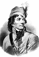 Thaddeus Kosciuszko.  Copy of engraving by H.B. Hall after Joseph Grassi.  (George Washington Bicentennial Commission)<br /> Exact Date Shot Unknown<br /> NARA FILE #:  148-GW-611<br /> WAR & CONFLICT BOOK #:  60