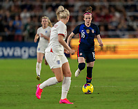 ORLANDO, FL - MARCH 05: Rose Lavelle #16 of the United States dribbles during a game between England and USWNT at Exploria Stadium on March 05, 2020 in Orlando, Florida.